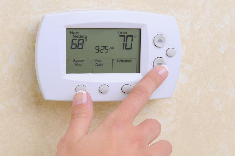 setting thermostat to 70 for your AC or Furnace