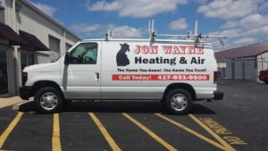 Jon Wayne Heating & Air Conditioning service van