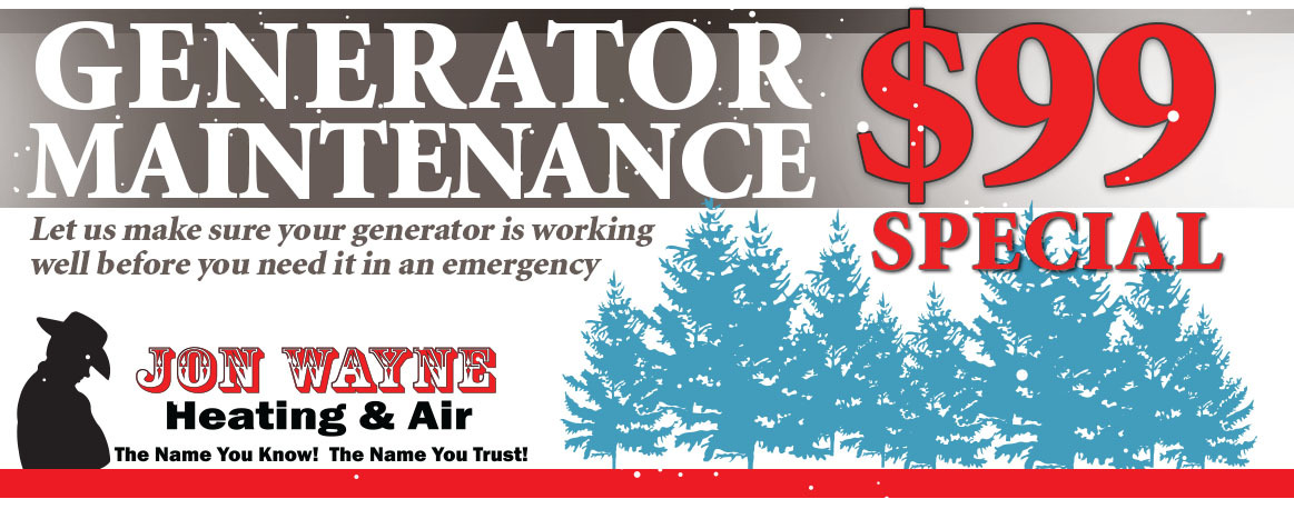 Generator Maintenance special for only $99