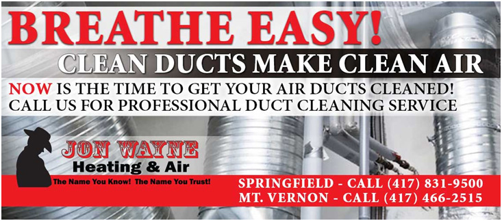 Header image about the benefits of a professional duct cleaning by Jon Wayne Heating & Air to improve the air quality in your home.
