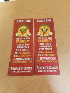 Tickets for Sertoma Chili Cook Off in Springfield, MO