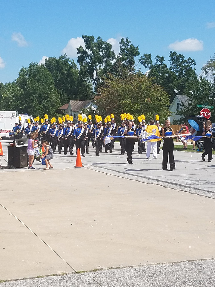 Military band marching in Billings Fall parade