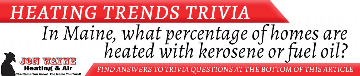 "Heating Trivia ""In Maine, what percentage of homes are heated with kerosene or fuel oil?"""