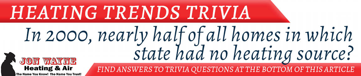 """Heating Trivia """"Which state has the highest percentage of homes using electric heat today?"""""""