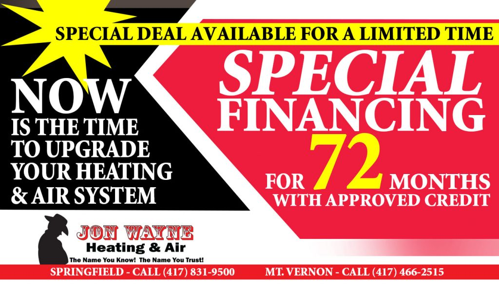 special financing for hvac installation service